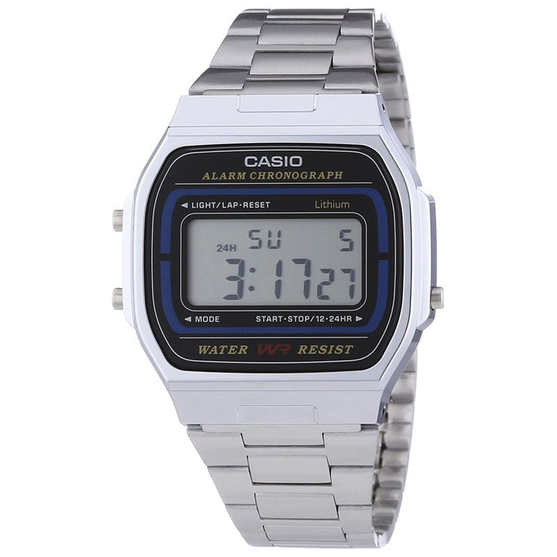 Casio Retro Collection Digital Watch A164WA-1VES - Hollins and Hollinshead