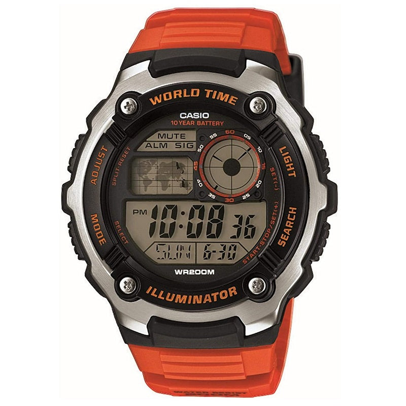 Casio Sports Gear World Time Men's Watch AE-2100W-4AVEF - Hollins and Hollinshead