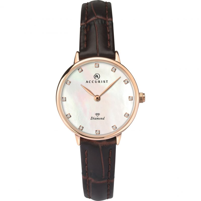 Accurist Diamond Dial Ladies Watch 8210 - Hollins and Hollinshead