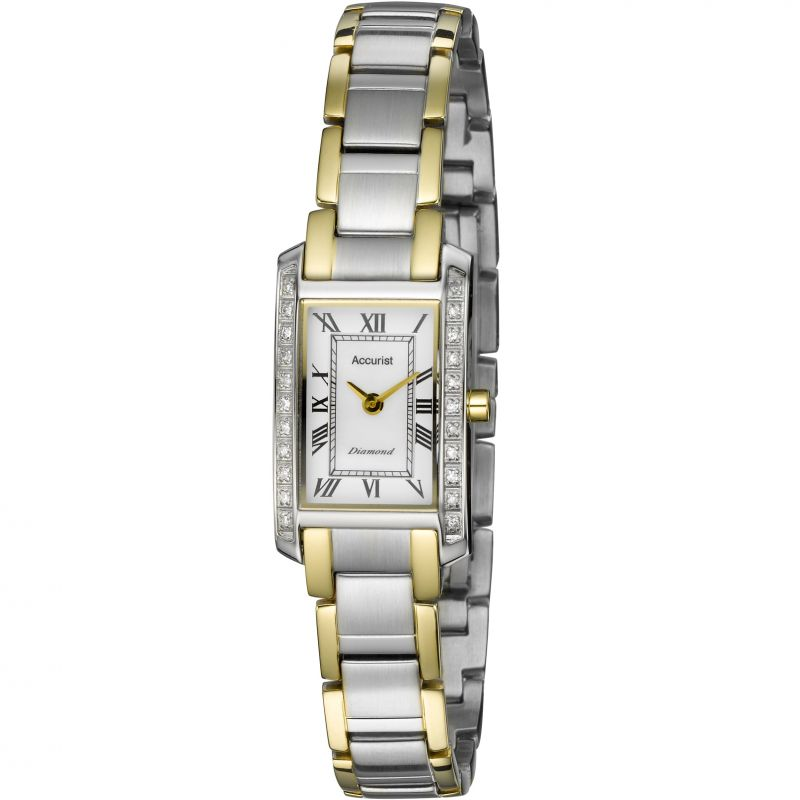 Accurist Diamond Set Ladies Watch LB1589RN - Hollins and Hollinshead