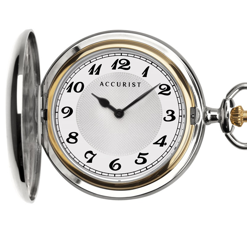Accurist Full Hunter Pocket Watch 7311 - Hollins and Hollinshead