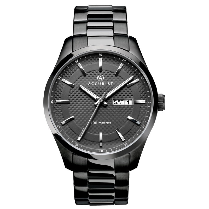 Accurist Stainless Steel Mens Watch 7058 - Hollins and Hollinshead
