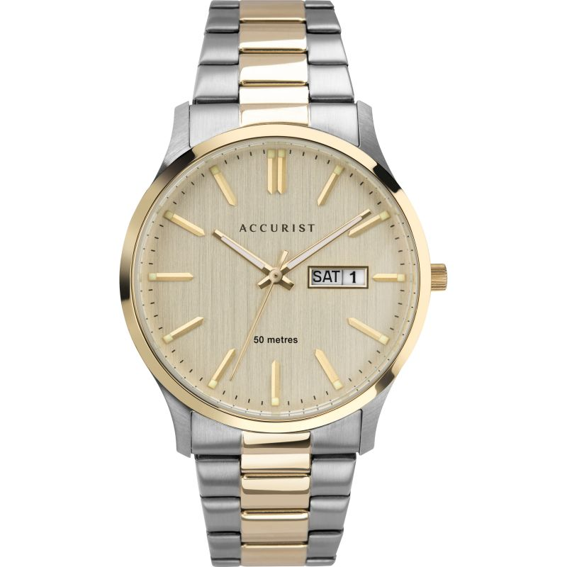 Accurist Two Tone Classic Mens Watch 7313