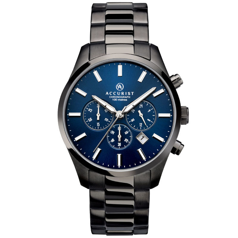 Accurist Chronograph Blue Dial Mens Watch 7137 - Hollins and Hollinshead