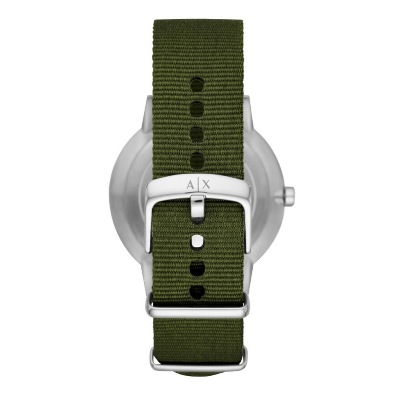 Armani Exchange Cayde Green Strap Mens Watch AX2709 - Hollins and Hollinshead