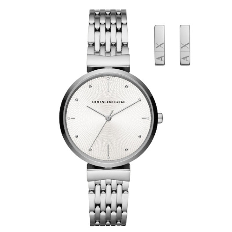Armani Exchange Zoe Ladies Watch and Earring Gift Set AX7117 - Hollins and Hollinshead