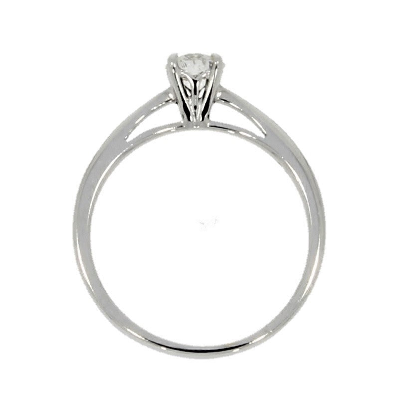 Pre Owned 18ct White Gold 0.39ct Diamond Solitaire Ring - Hollins and Hollinshead