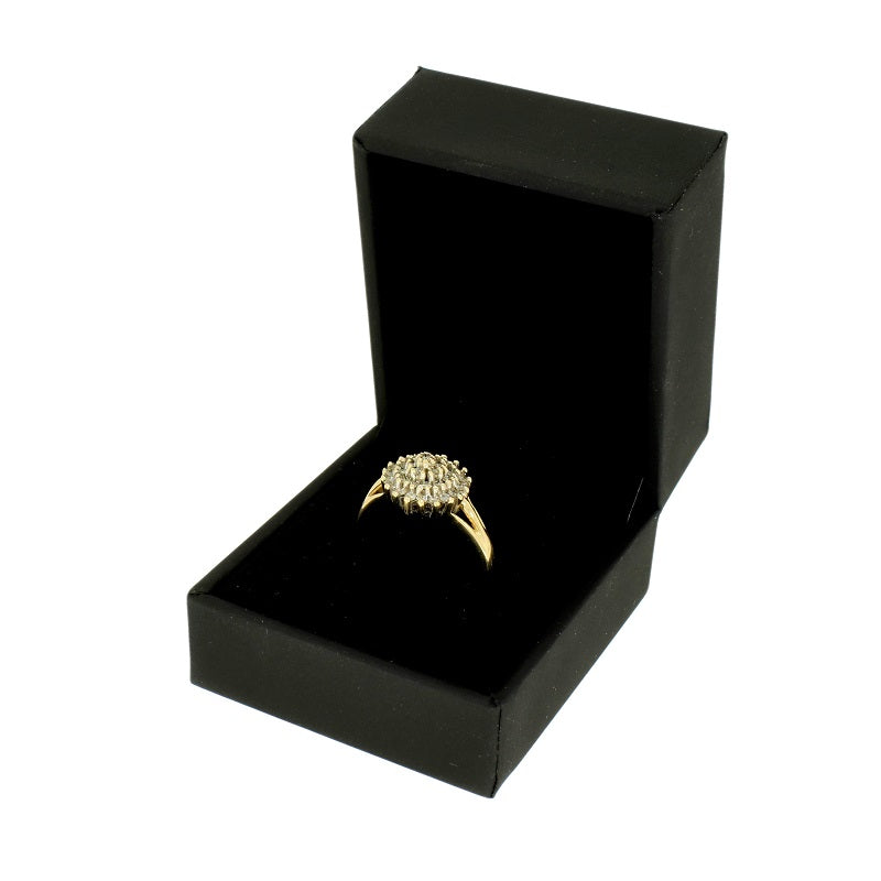 Pre Owned 9ct Yellow Gold 0.50ct Diamond Cluster Ring - Hollins and Hollinshead