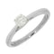 Pre Owned 9ct White Gold 0.25ct Diamond Solitaire Ring - Hollins and Hollinshead