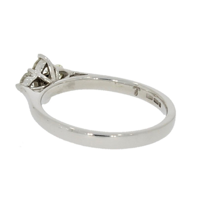 9ct White Gold 0.48ct Diamond Cluster Ring Size N - Hollins and Hollinshead