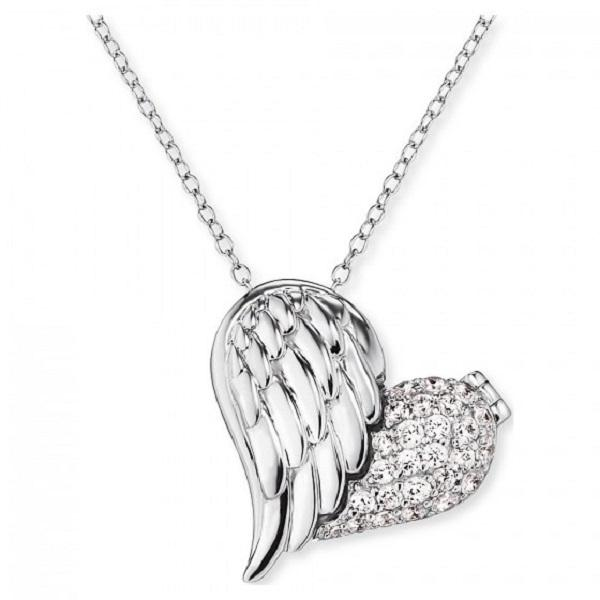 Engelsrufer Silver Heart Wing Necklace ERN-WITHLOVE-02-ZI - Hollins and Hollinshead