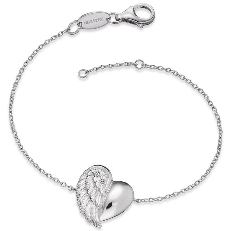 Engelsrufer Silver Heart Wing Bracelet ERB-LILHEARTWING - Hollins and Hollinshead