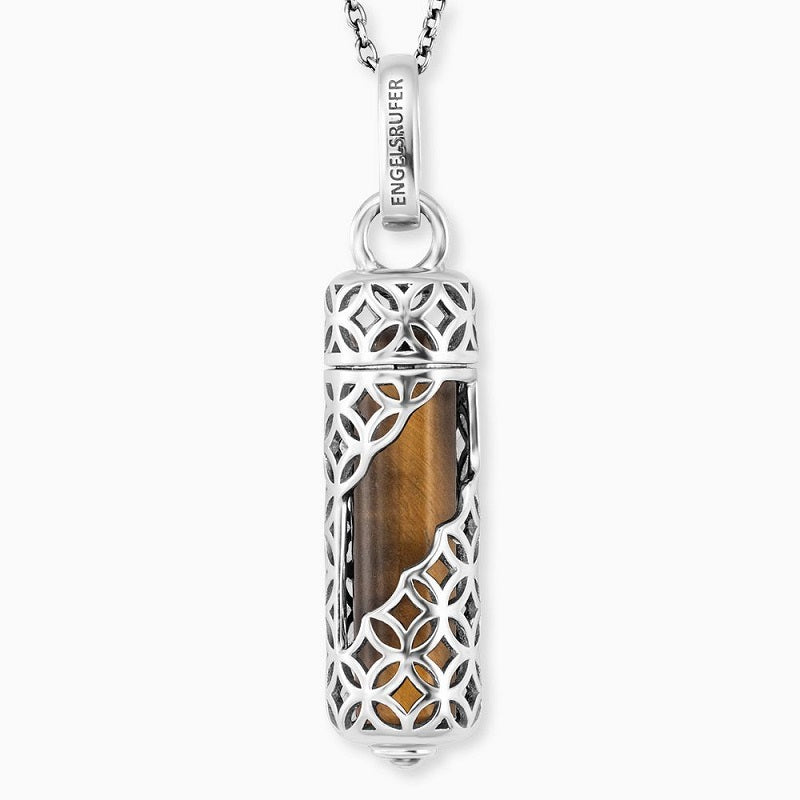 Engelsrufer Tigers Eye Powerful Stone Necklace ERN-HEAL-TE-M
