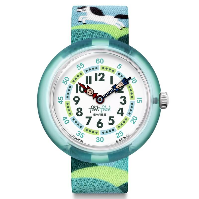 Flik Flak Pony Day Swiss Childrens Watch FBNP149 - Hollins and Hollinshead