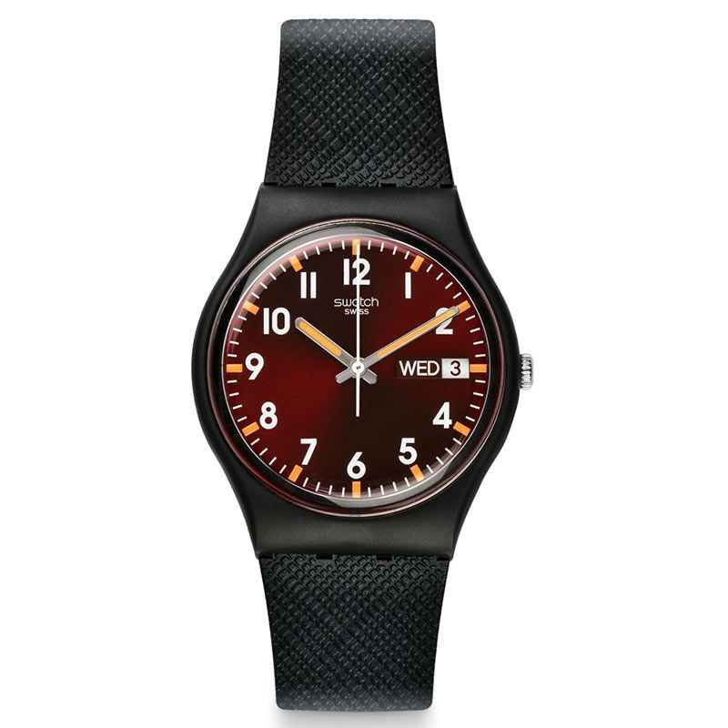 Swatch Sir Red Originals Gent Day Date Watch GB753 - Hollins and Hollinshead
