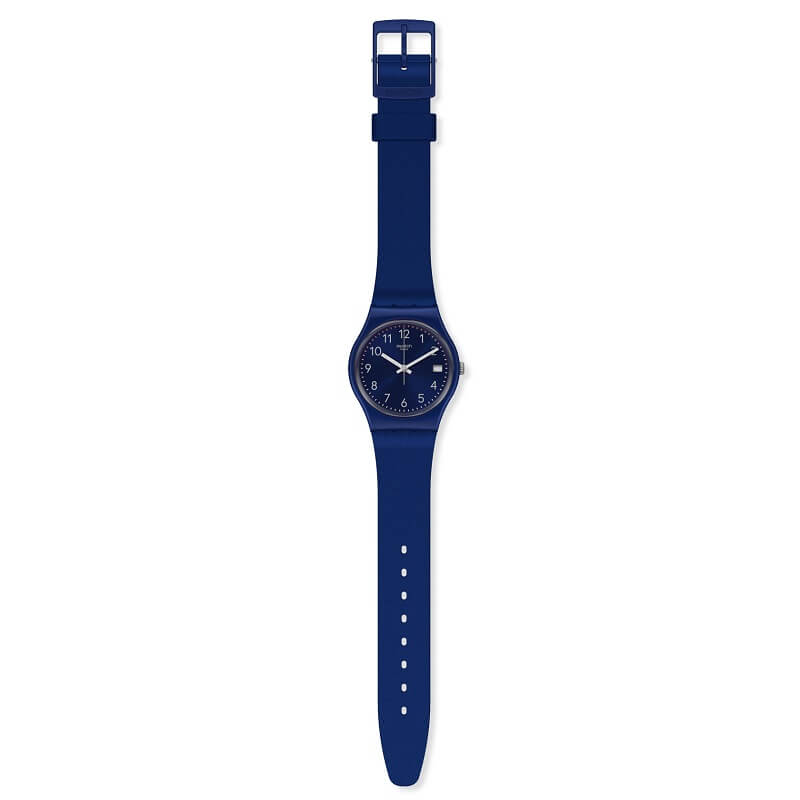 Swatch Originals Silver In Blue Watch GN416 - Hollins and Hollinshead