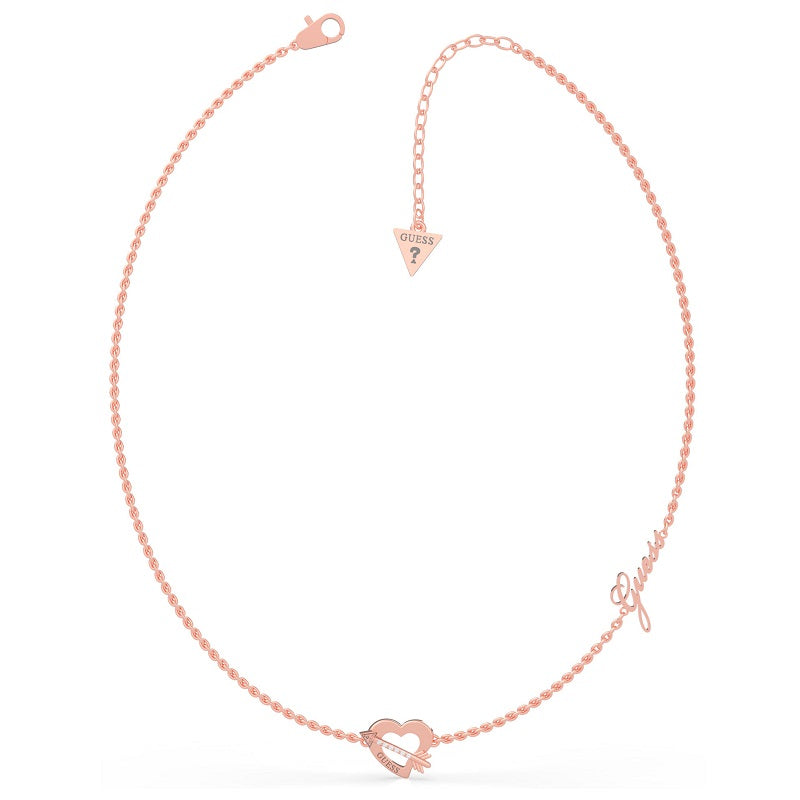 Guess Across My Heart Necklace UBN79061 - Hollins and Hollinshead