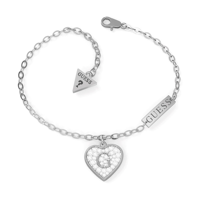 Guess G Shine Crystal Heart Bracelet UBB79062-L - Hollins and Hollinshead