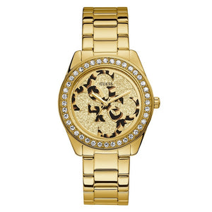 Guess G Twist Gold Plated Steel Ladies Watch W1201L2 - Hollins and Hollinshead