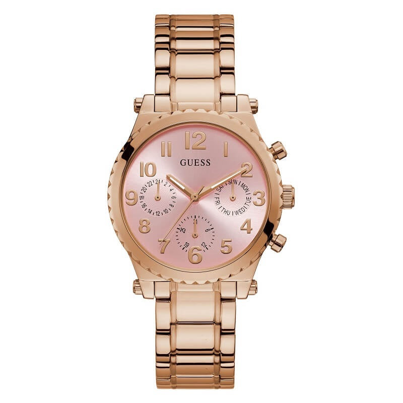 Guess Gwen Rose Gold Tone Ladies Watch GW0035L3 - Hollins and Hollinshead
