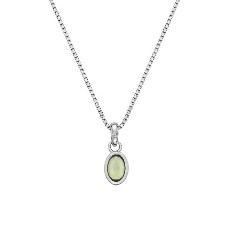 Hot Diamonds August Birthstone Peridot Pendant DP761 - Hollins and Hollinshead