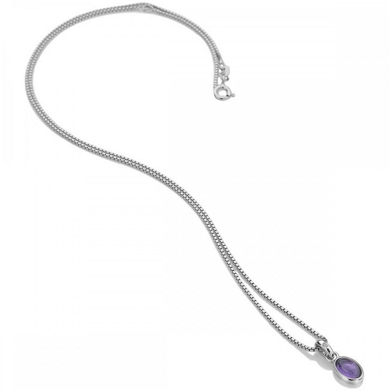 Hot Diamonds February Birthstone Amethyst Pendant DP755 - Hollins and Hollinshead
