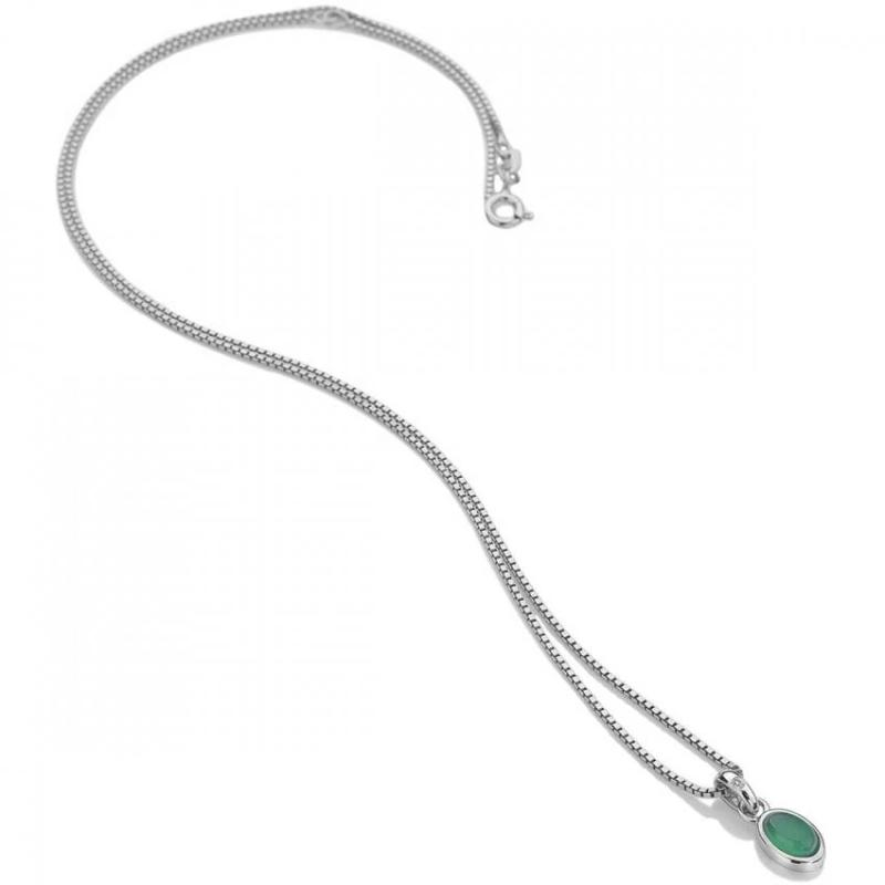 Hot Diamonds May Birthstone Green Agate Pendant DP758 - Hollins and Hollinshead