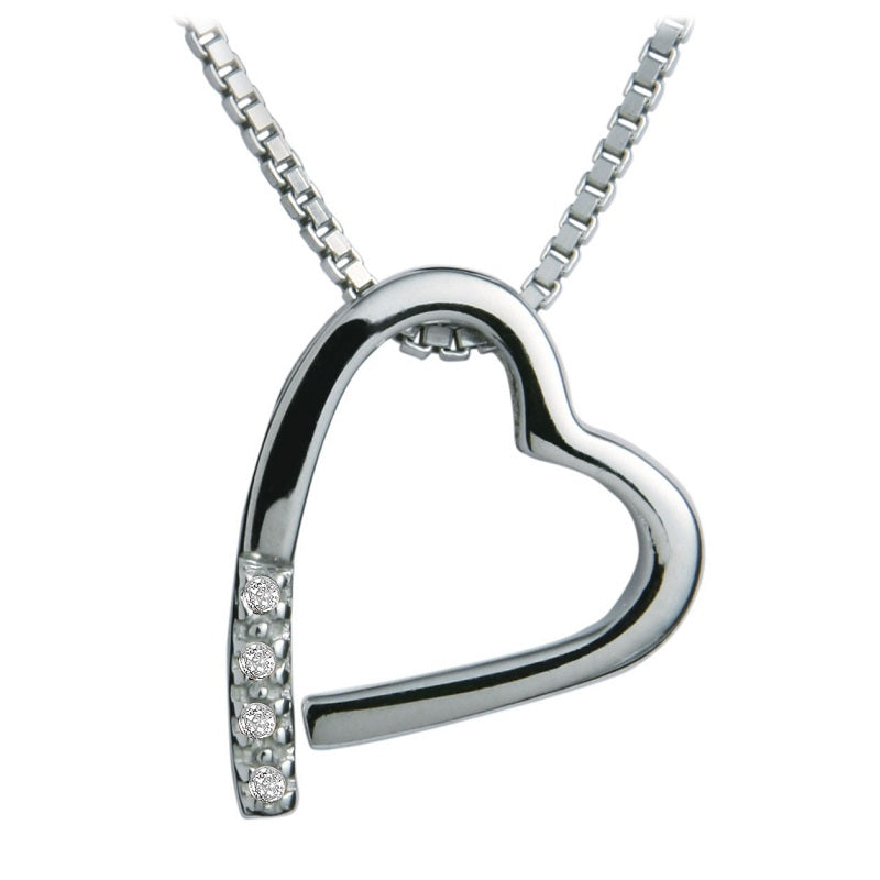 Hot Diamonds Romantic Silver Heart Pendant DP100 - Hollins and Hollinshead
