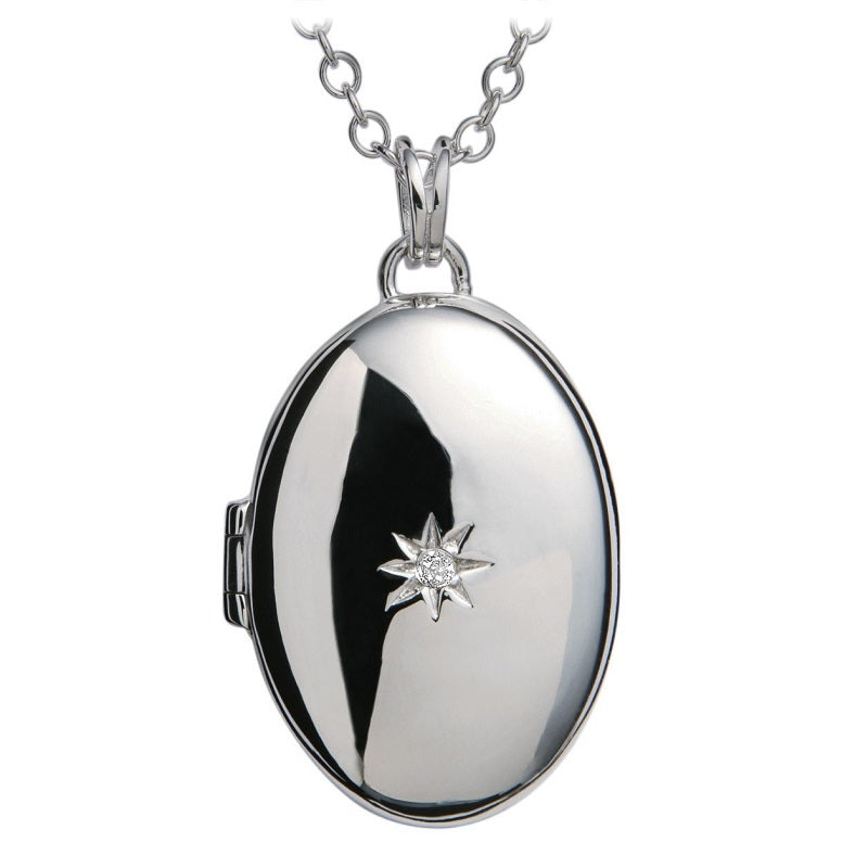 Hot Diamonds Romantic Silver Locket Pendant DP143 - Hollins and Hollinshead