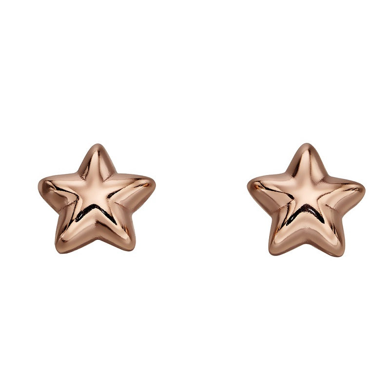 Little Star Amelia Rose Gold Plated Sterling Silver Star Stud Earrings LSE0150 - Hollins and Hollinshead