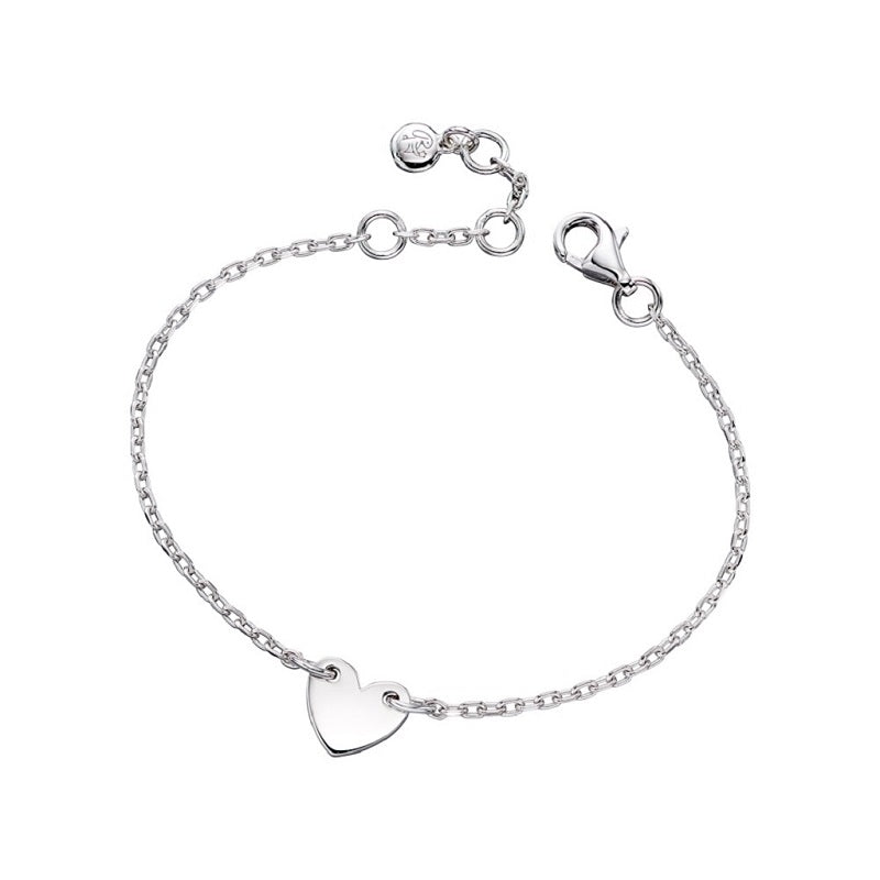 Little Star Anna Sterling Silver Heart Bracelet LSB0177 - Hollins and Hollinshead