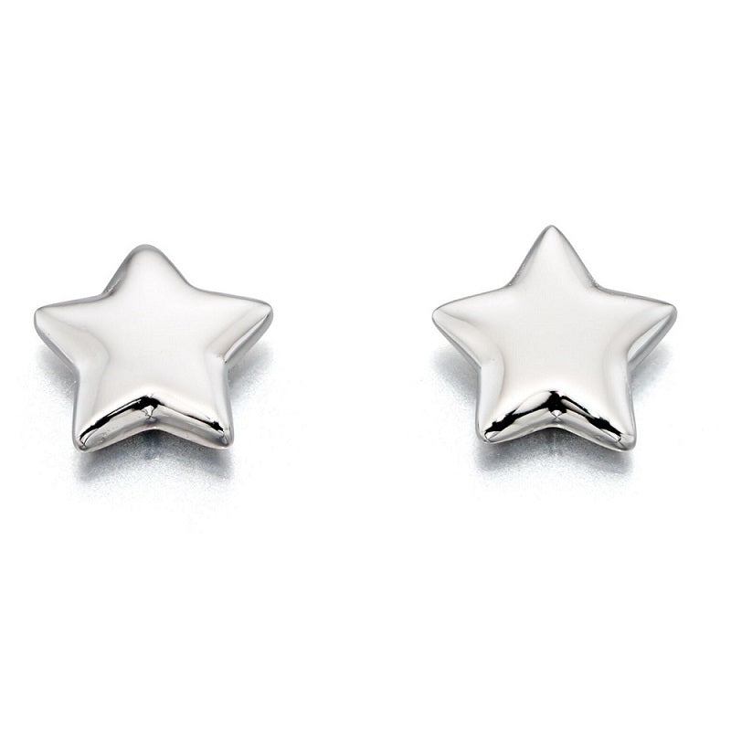 Little Star Ava Sterling Silver Star Stud Earrings LSE0046 - Hollins and Hollinshead