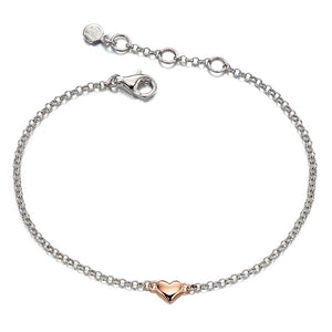 Little Star Georgiana Sterling Silver Heart Bracelet LSB0060 - Hollins and Hollinshead