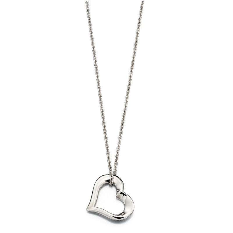 Little Star India Sterling Silver Heart Necklace LSN0056 - Hollins and Hollinshead