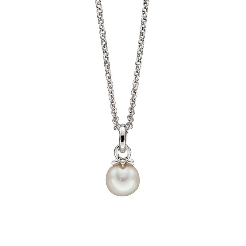 Little Star Isla Sterling Silver Pearl Necklace LSN0159 - Hollins and Hollinshead