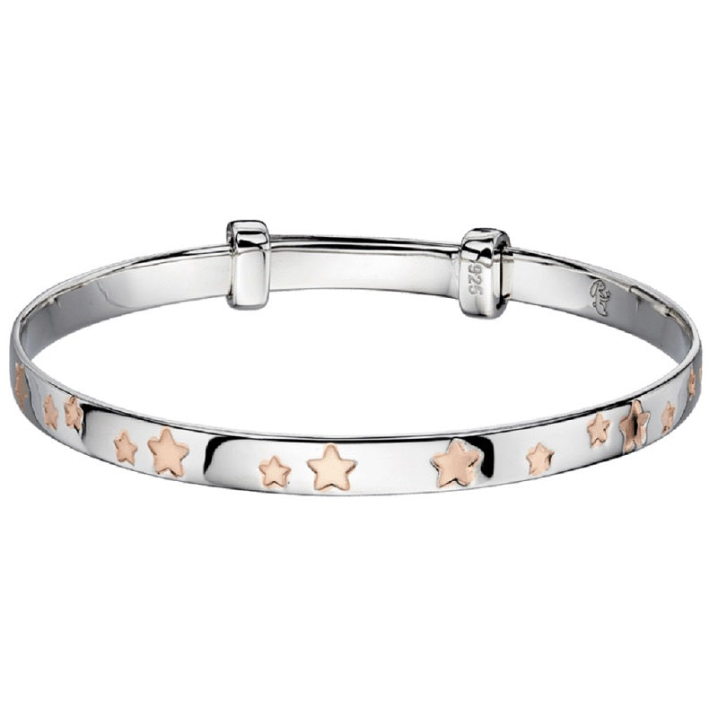 Little Star Jessica Sterling Silver Baby Bangle LSB0131 - Hollins and Hollinshead