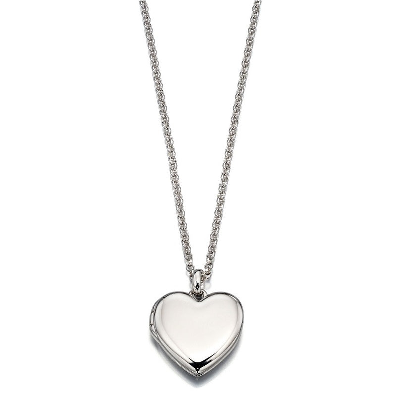 Little Star Olivia Sterling Silver Heart Locket and Chain LSN0023 - Hollins and Hollinshead