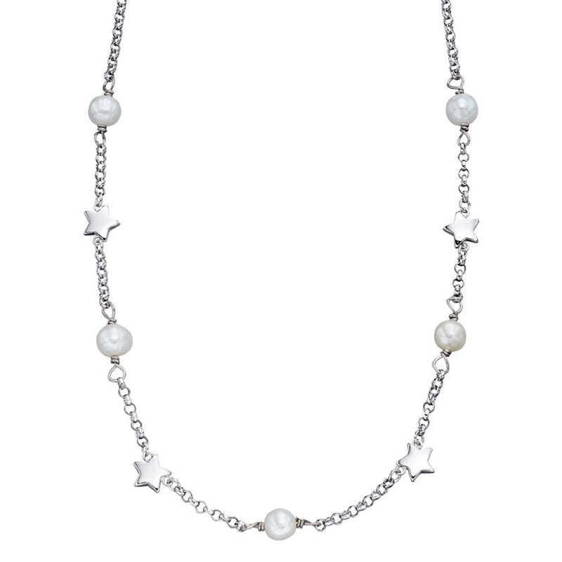 Little Star Tatiana Sterling Silver Pearl Necklace LSN0037 - Hollins and Hollinshead