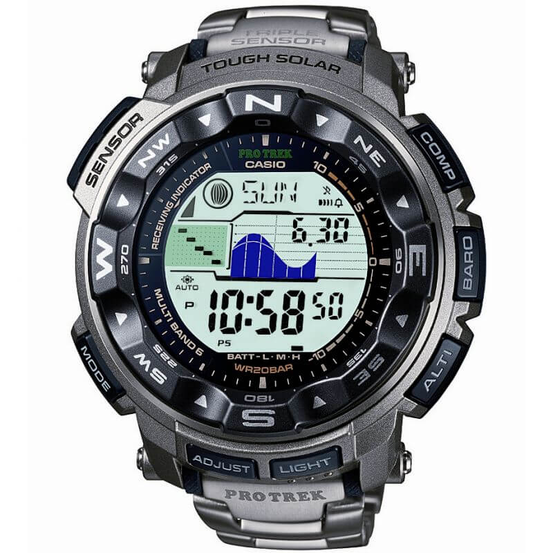 Casio Pro Trek Triple Sensor Digital Mens Watch PRW-2500T-7ER - Hollins and Hollinshead