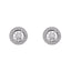 Sterling Silver Cubic Zirconia Halo Ladies Stud Earrings - Hollins and Hollinshead