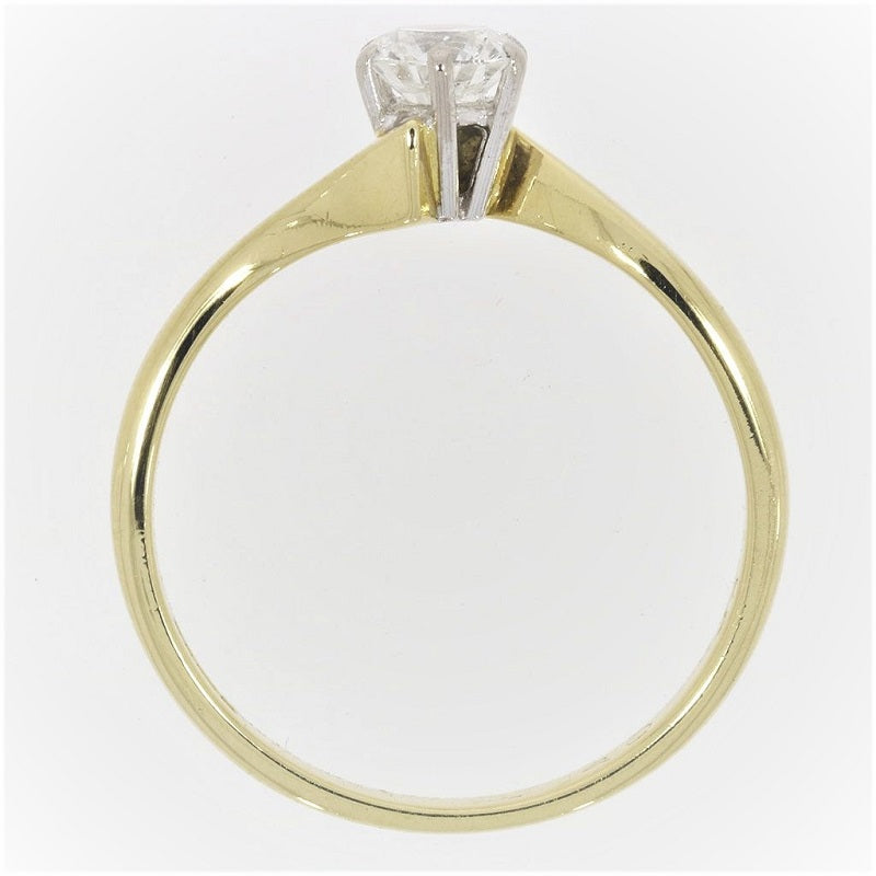 Pre Owned 18ct Yellow Gold 0.40ct Diamond Solitaire Ring - Hollins and Hollinshead