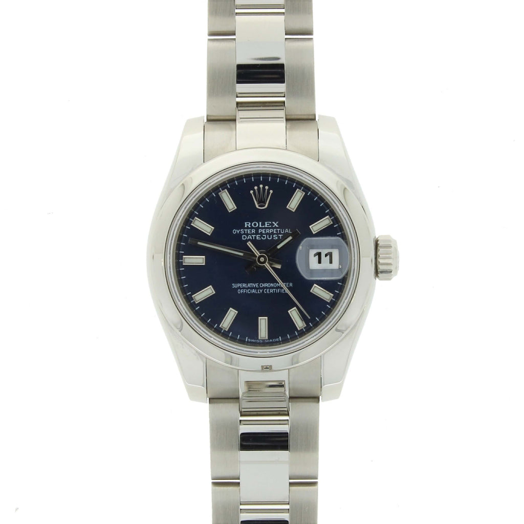Pre Owned Rolex Oyster Perpetual Datejust 26 Steel Ladies Watch 179160 RW0349 Papers (2006) Video