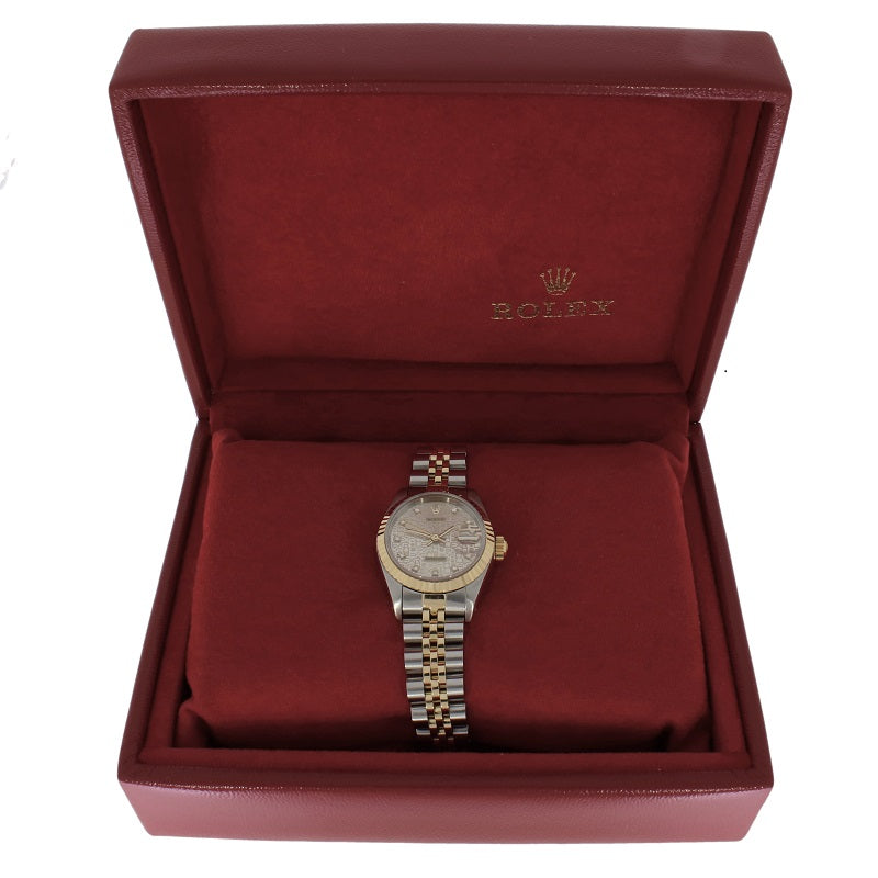 Pre Owned Rolex Oyster Perpetual Datejust Bi Metal Diamond Ladies Watch 69173 RW0360 Papers (1992) Box