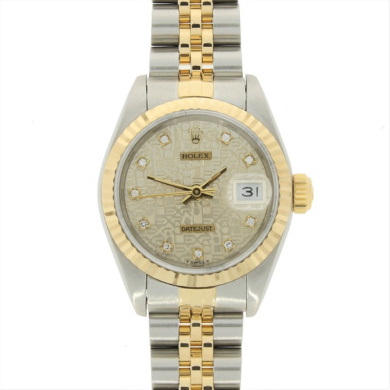 Pre Owned Rolex Oyster Perpetual Datejust Bi Metal Diamond Ladies Watch 69173 RW0360 Papers (1992)