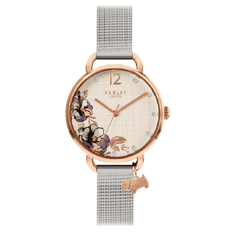 Radley Floral Dial Mesh Bracelet Ladies Watch RY4525 - Hollins and Hollinshead