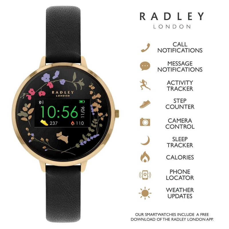 Radley Black Strap Ladies Smart Watch RYS03-2010