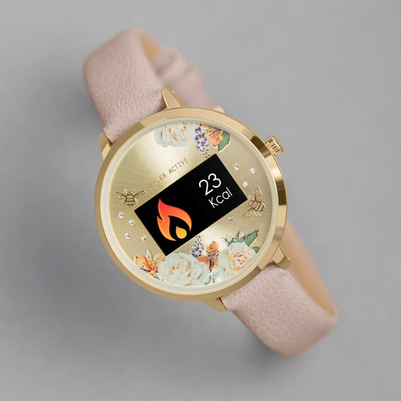Reflex Active Beige Strap Ladies Smart Watch RA03-2016