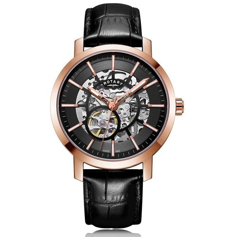 Rotary Greenwich Automatic Skeleton Dial Mens Watch GS05354/04 - Hollins and Hollinshead