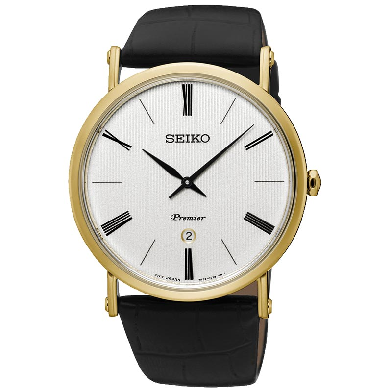 Seiko Premier Leather Strap Mens Watch SKP396P1 - Hollins and Hollinshead