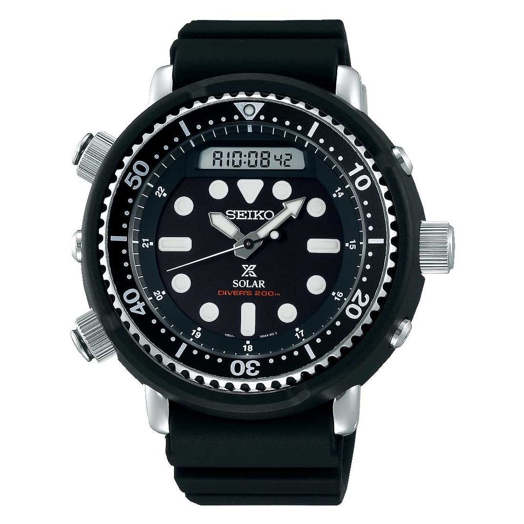 Seiko Prospex Arnie Solar Hybrid Men's Divers Watch SNJ025P1 - Hollins and Hollinshead